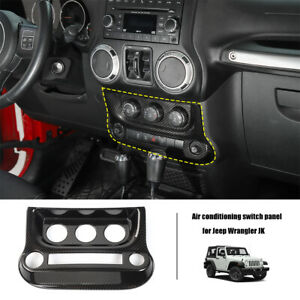 Air Condition Switch Panel Cover Console Trim For Jeep Wrangler Jk 2011 17