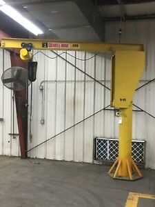 Abell howe 1 Ton 2000lb Jib Crane 10 Ft Span Good Working Condition