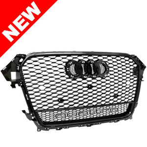 13 14 15 16 Audi A4 S4 B8 5 Rs Dual Frame Style Mesh Grille High Gloss Black