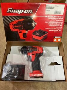 Snap on 18v Monsterlithium Compact Cordless Impact Wrench Orange Ct8810aowb