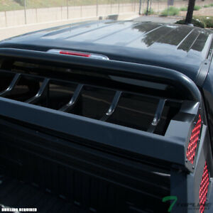 Topline For 07 14 Silverado sierra Chase Rack Truck Roll Bar basket matte Black