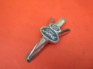 Nice Used Original 1937 Ford 60hp Grille Emblem G 4 14