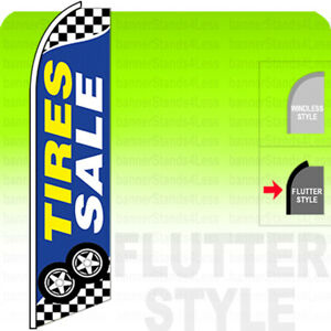 Tires Sale Swooper Flag Feather Banner Sign 2 5x11 5 Tall Flutter Style Bb
