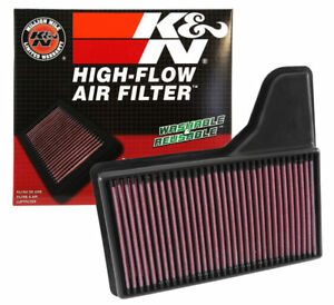 K n 33 5029 Replacement Drop in Air Filter 2015 2019 Ford Mustang 2 3l 3 7l 5 0l