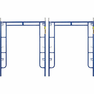Metaltech 4900 lb Capacity Arch Scaffold Frames 2 pk 6ft X 5ft