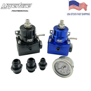 Black 8an Fuel Inject High Pressure Regulator With Boost And Gauge An8 8 6