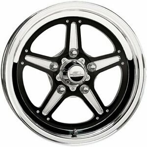 Billet Specialties Brs035406122 Street Lite Black Wheel Size 15 X 4 Rear Sp