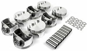 Speedmaster Pce305 1128 Flat top Forged Pistons Small Block Chevy 383 Bore 4 02