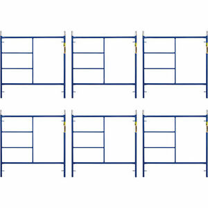 Metaltech M mf6060apsk6 Saferstack 5ft X 5ft Mason Frame 6 pack