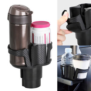 2in1 Universal Car Seat Cup Holder Drink Beverage Coffee Auto Truck Bottle Mount
