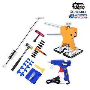 Us Car Repair Kit Puller Paintless Dent Remover Tools Slide Hammer Hail Tap Down