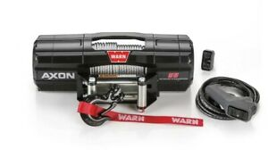 Warn 101155 Axon 55 Power Sport Winch With 5 500 Lb Capacity 50 Ft Steel Rope