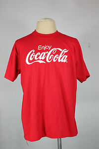 vintage Coca-cola t-shirt XL 80's 90's 50/50 red enjoy