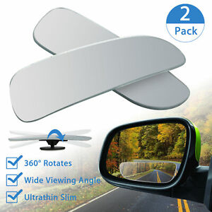 2pcs Universal Car Auto 360 Wide Angle Convex Rear Side View Blind Spot Mirror