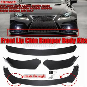 Carbon Fiber Front Bumper Lip Spoiler For Lexus Is250 Is300 Gs300 Gs400 Gs450h
