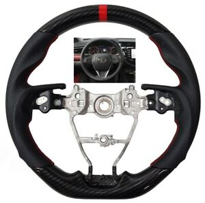 Revesol Sports Hydro Dip Carbon Steering Wheel For 2018 2020 Toyota Camry Avalon