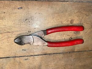 Snap On Wire Cutters Side Cutter Snip Red Soft Grip 87cf
