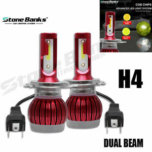 H4 Mini Led Headlight 3000k Low 6000k Hi Beam Yellow White Front Light Replace