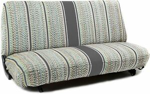 Gray Universal Saddleblanket Seat Cover For Truck And Car Bench Seats One Piece