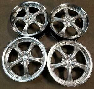 Konig Wheels Rims 19 Inch 5x100 5x112 40mm Silver Machine Lip