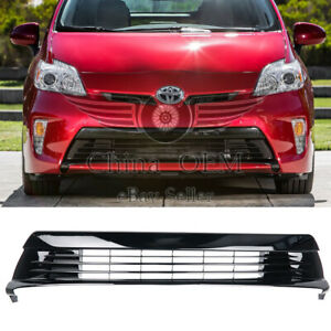 For 2012 2013 2014 2015 Toyota Prius Black Front Grill Replacement Bumper Grille