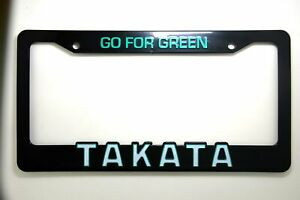 2pcs Takata Go For Green Pair Illest Fatlace Bride Seat Belt License Plate Frame