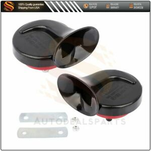 2 Pcs 12v 120db 510hz Dual Tone Snail Electric Air Horn Siren For Car Truck Suv