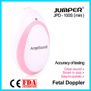 Angelsounds Jumper Fetal Doppler Baby Heart Detector Prenatal Ultrasound Monitor