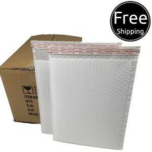 Pack 75pcs In Box 10 X 15 Inches Usable Large Red Poly Bubble Mailers Envelopes