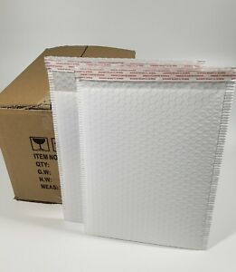 Pack 75pcs In Box 10x15 Inches Usable Large Yellow Poly Bubble Mailer Envelopes