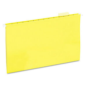 Universal Hanging File Folders 1 5 Tab 11 Point Stock Legal Yellow 25 box 14219