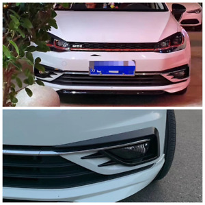 Abs Carbon Style Front Fog Lamp Eyebrow Frame Trim For Vw Golf Mk7 2015 2017