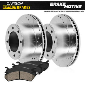 Front Brake Rotors Carbon Ceramic Pads For 1999 Ford F250 F350 Super Duty 4x4