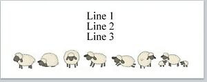 Personalized Address Labels Country Row Of Cartoon Sheep Buy3 Get1 Free jx 563
