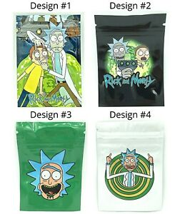 Rick And Morty Mylar Resealable Zip Lock Smell Proof 3 5g Bags Free Shipping