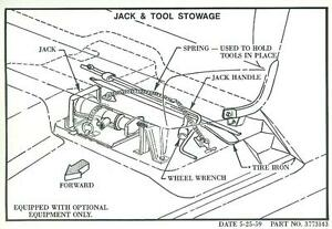 1960 61 62 63 64 65 66 Chevy Truck Jack Tool Stowage Decal