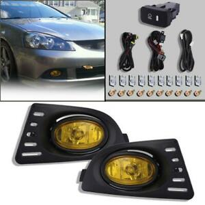 Qty2 Bumper Driving Fog Lights Lamps H11 Switch For 2005 2007 Acura Rsx