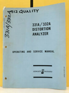 Hp 00331 90002 Model 331a 332a Distortion Analyzer Operating And Service Manual