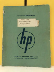 Hp Model 330b Distortion Analyzer Instruction And Operating Manual