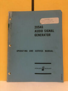 Hp 00205 90003 205ag agr Audio Signal Generator Operating And Service Manual