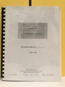 Montronics Model 207 Vlf Receiver comparator Manual
