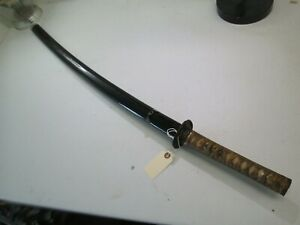 Japanese Samurai Sword With Scabbard Old Katana Wood Blade And Mounts Only C6