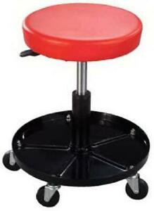 Mechanics Work Stool Adjustable Roll Swivel Creeper Seat Chair Garage Tool Caddy