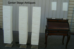 Lamp Cs 3 Mid Century Modern Pole Lamps W Shade 2 Table Lamps