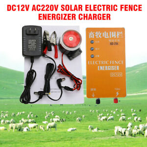 Dc12v Solar Electric Fence Energizer Charger For Poultry Horse Pig Dog 3km