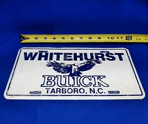 Vintage Original Whitehurst Buick Tarboro North Carolina License Plate