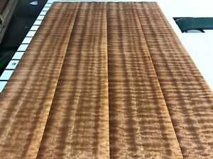 Sapele Quilted Wood Veneer Qtr 4 Sheets 40 X 5 3 4 7 Thickness 55q