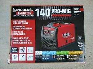 New Lincoln Electric 140 Pro mig Mig flux Corded Wire Feed Welder K2480 1 Nib