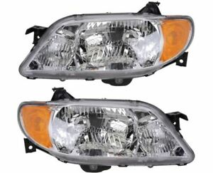 For Mazda Protege 2001 2002 2003 Pair New Left Right Headlight Assembly Dac