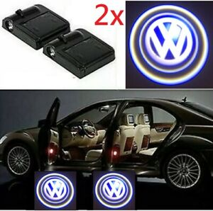 2x Volkswagen Car Door Welcome Led Light Courtesy Projector Ghost Shadow Sticker